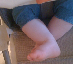 Delicious baby feet!