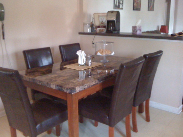 Our new kitchen table